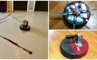 Робот-пылесос создан для того, чтобы уничтожить человечество (17фото+2видео+3гиф)