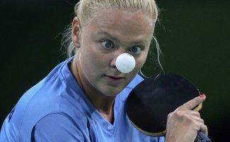 Как в настольном теннисе концентрируются на мяче (9фото)