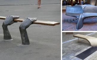 45 самых оригинальных скамеек в мире (46фото)