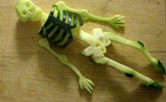 Забавный карвинг - смешные и удивительные украшения и овощные поделки (19фото)