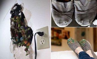 Эти фотографии показывают каким образом исправляют недостатки творческие люди (21фото)