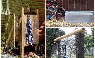 15 бюджетных идей, как сделать летнюю душевую на даче (16фото)