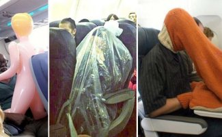 30 сцен на борту самолета, которых вы предпочли бы никогда не видеть (32фото)