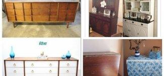 Реанимация старой мебели - красота или уродство? (37фото)
