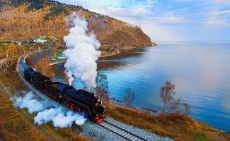 Избранные пейзажи Кругобайкальской железной дороги (71фото)