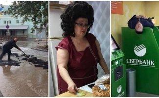Параллельные миры городских луж (23фото)
