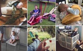 Советы по воспитанию от опытных, но циничных родителей (14фото+1видео)
