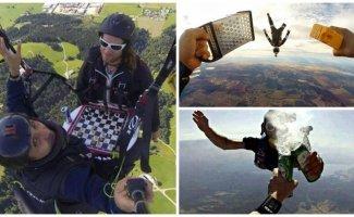 Для тех, кому надоели обычные прыжки с парашютом (15фото+3видео)