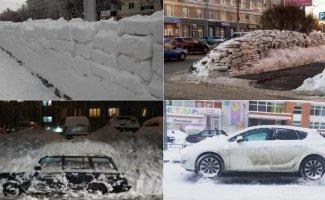 Уборка снега — национальная забава в России (19фото)