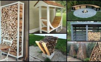 Креативные идеи для хранения дров (32фото)