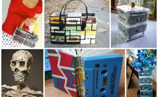 Фантастические идеи применения старых аудиокассет (33фото)