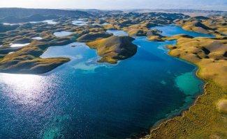 Природа Киргизии с высоты (20фото)
