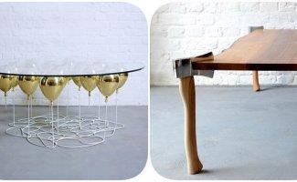 6 обеденных столов с уникальным дизайном, которые бросают вызов законам физики (18фото)