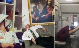 Возможно и вы здесь есть: спящие работники, застуканные на рабочем месте (22фото)