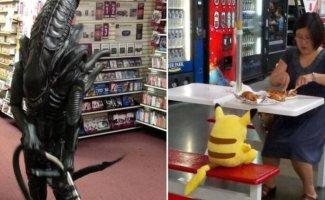 Самые странные покупатели супермаркетов, которые точно живут в своем мире (16фото)