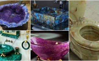 30 примеров чрезмерно роскошной сантехники, в подарок от Хозяйки медной горы (31фото)