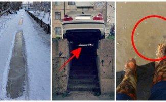 Трудности из жизни пешеходов: на своих двоих, или Каждый день новая полоса препятствий (15фото)