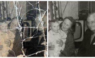 Восстановленные семейные фотографии: до и после (23фото)