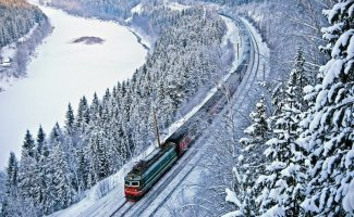 Зимняя железная дорога (75фото)