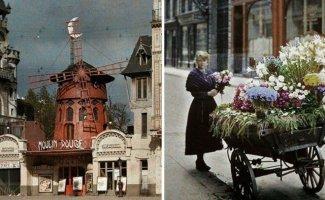 Автохромные снимки Парижа столетней давности (28фото)