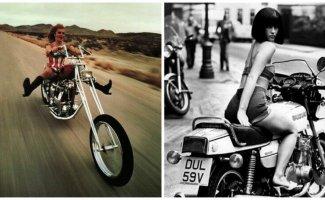 Девушки и мотоциклы: 20 замечательных ретро-снимков (21фото)