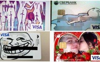 16 немного странных дизайнов банковских карт, при виде которых удивляются кассиры (17фото)
