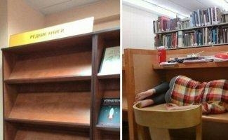 Это могло произойти только в библиотеке (21фото)