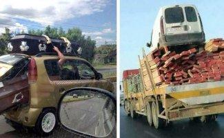 20 безбашенных водителей, которые готовы везти что угодно (19фото)